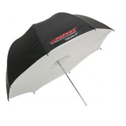 Бял отражателен бокс-чадър 91 см