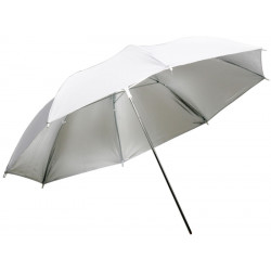 Сребрист отражателен чадър 85 см