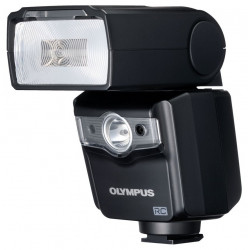 светкавица Olympus FL-600R Micro 4/3 + аксесоар Cactus Bands + Bounce Card Kit