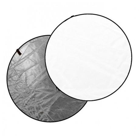 Dynaphos Отражателен диск 2 в 1 110 см сребристо/бяло