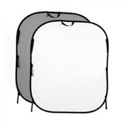 фон Lastolite 7056GW 56GW Сгъваем фон 180х150 Средно сиво/Бяло