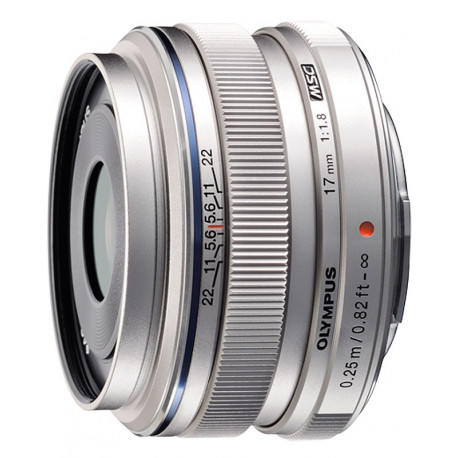 Olympus M.ZUIKO DIGITAL 17mm f/1.8 MSC (сребрист)