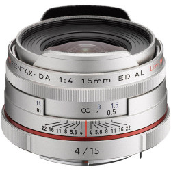 Pentax HD 15MM F / 4 DA ED AL LIMITED (Silver)
