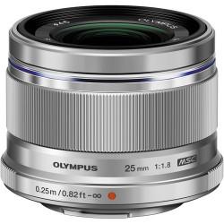 обектив Olympus ZD MICRO 25MM F/1.8 MSC (сребрист)
