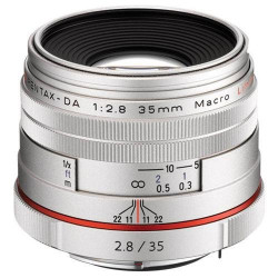 Lens Pentax HD 35mm f / 2.8 DA Macro Limited (Silver)