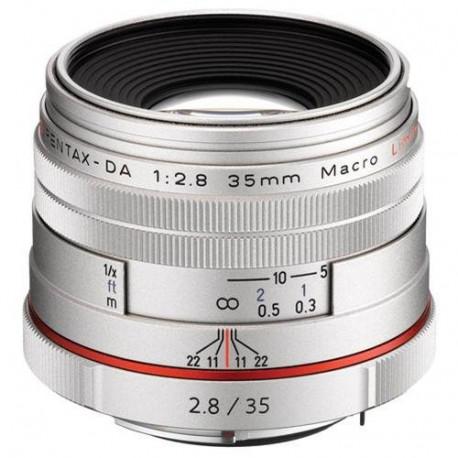 Pentax HD 35mm f/2.8 DA Macro Limited (сребрист)