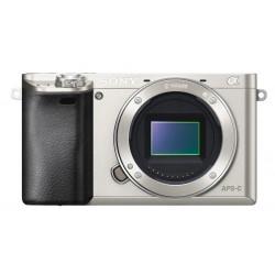 фотоапарат Sony A6000 (сребрист) + обектив Sony SEL 16-50mm f/3.5-5.6 PZ OSS (сребрист)