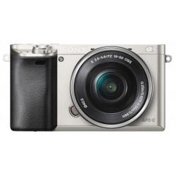 фотоапарат Sony A6000 (сребрист) + обектив Sony SEL 16-50mm f/3.5-5.6 PZ OSS (сребрист) + обектив Sigma 19mm f/2.8 EX DN - Sony E
