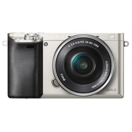 Sony A6000 (сребрист) + обектив Sony SEL 16-50mm f/3.5-5.6 PZ OSS (сребрист) + обектив Sigma 19mm f/2.8 EX DN - Sony E