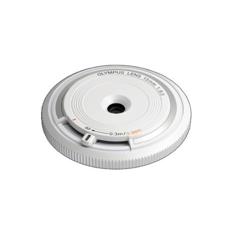 Olympus ZD Micro 15mm f/8 Body Cap Lens (White)