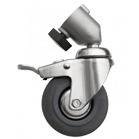 Dynaphos 040903 Колелца за стативи - метални със спирачка, 3 бр.