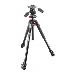 Manfrotto MK190XPRO3-3W aluminum tripod with X-Pro three-position head