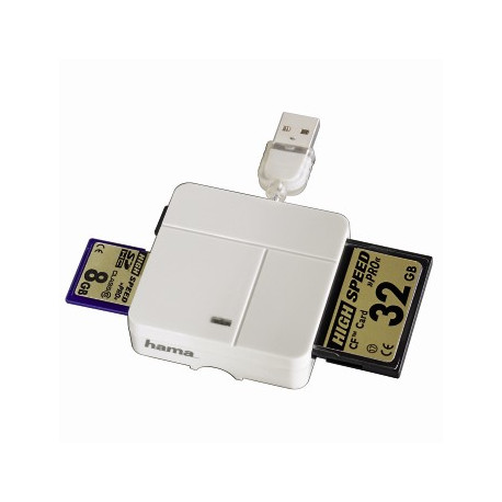 Hama 94125 Multi-Card Reader USB 2.0 (бял)