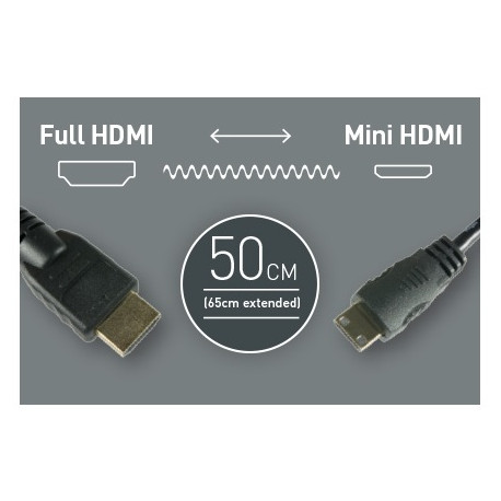 Atomos кабел 50 см. HDMI - Mini HDMI