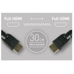 кабел 30 см. HDMI - HDMI