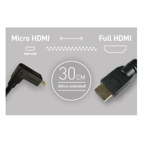 Atomos кабел 30 см. Micro HDMI - HDMI