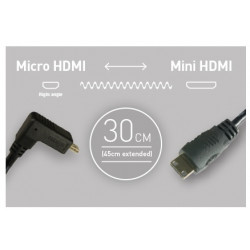 аксесоар Atomos кабел 30 см. Micro HDMI - Mini HDMI