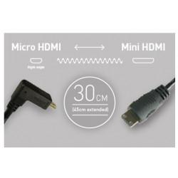 Atomos cable 30 cm Micro HDMI - Mini HDMI
