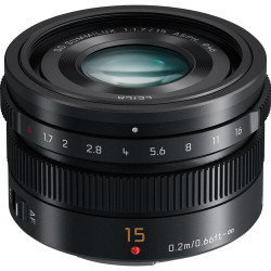 обектив Panasonic Leica DG Summilux 15mm f/1.7 ASPH. (черен)