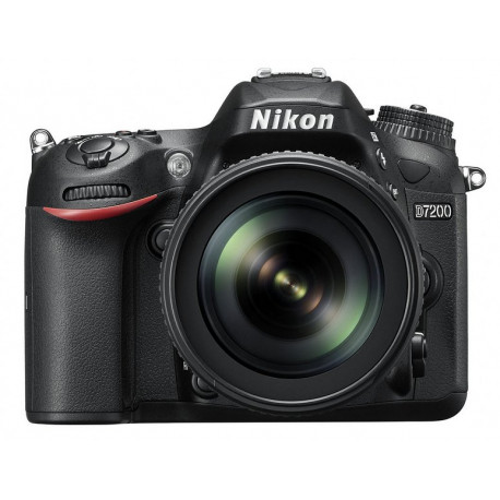 Nikon D7200 + обектив Nikon 18-105mm VR + обектив Nikon 50mm f/1.8D + аксесоар Nikon ML-L3 + аксесоар Nikon 100-TH Anniversary Premium Camera Strap (черен)