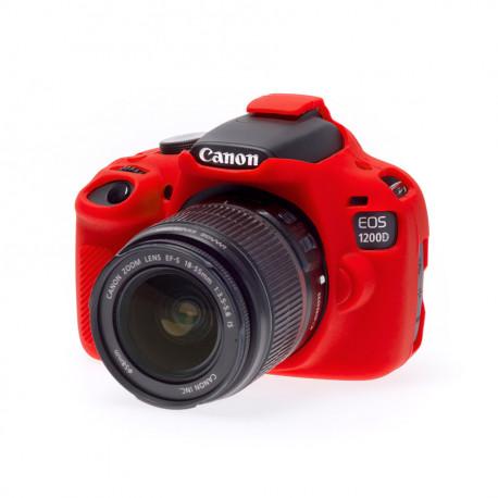 EasyCover ECC1200DR - Силиконов протектор за Canon 1200D (червен)