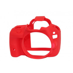 Accessory EasyCover ECC100DR - Silicone Protector for Canon 100D (Red)