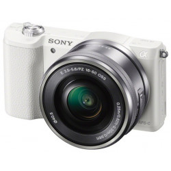 SONY ALPHA 5100 WHITE+16-50MM KIT+CARL ZEISS TOUIT 32MM F/1.8