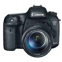 фотоапарат Canon EOS 7D Mark II + аксесоар Canon W-E1 + обектив Canon EF-S 18-135mm IS STM + раница Canon SL100 Sling (черен)