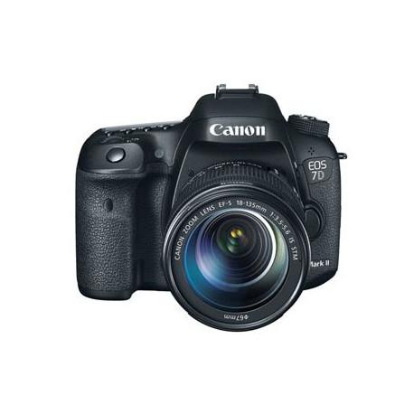 Canon EOS 7D Mark II + аксесоар Canon W-E1 + обектив Canon EF-S 18-135mm IS STM + раница Canon SL100 Sling (черен)