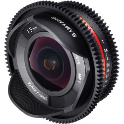 Lens Samyang 7.5mm T / 3.8 Cine Fish-eye - mFT