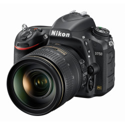 DSLR camera Nikon D750 + Lens Nikon 24-120mm f/4 VR + Memory card Lexar Professional SD 64GB XC 633X 95MB / S