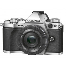 Camera Olympus OM-D E-M5 MARK II (сребрист) + Lens Olympus ZD Micro 14-42mm f/3.5-5.6 EZ ED MSC (черен)