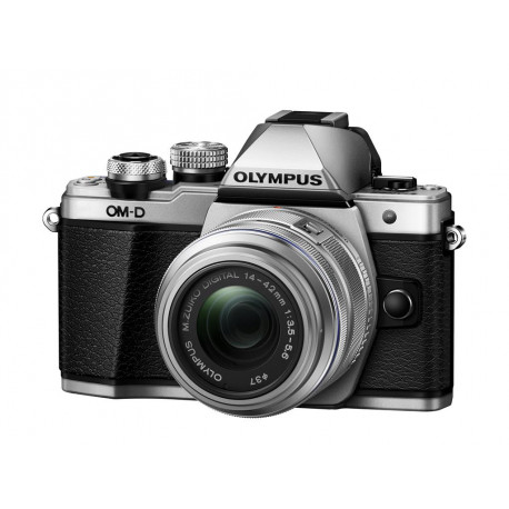 Olympus E-M10 II (сребрист) OM-D + обектив Olympus MFT 14-42mm f/3.5-5.6 II R MSC + карта Lexar Professional SD 64GB XC 633X 95MB/S