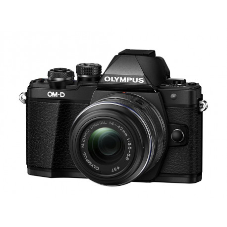 фотоапарат Olympus E-M10 II (черен) OM-D + обектив Olympus MFT 14-42mm f/3.5-5.6 II R MSC black