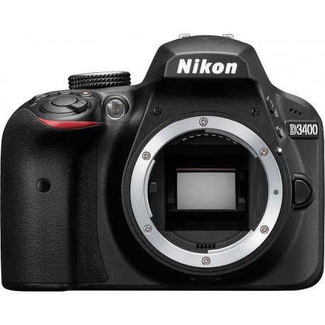 фотоапарат Nikon D3400 + обектив Nikon DX 35mm f/1.8G + филтър Praktica UV MC 52mm