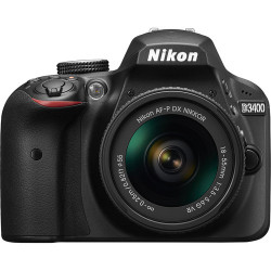 NIKON D3400 BLACK+AF-P 18-55MM F/3.5-5.6G VR KIT+DSLR BAG