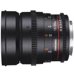 Lens Samyang 24mm T / 1.5 VDSLR mark II- Canon EF