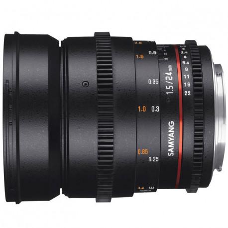 Samyang 24mm T/1.5 VDSLR mark II- Canon EF