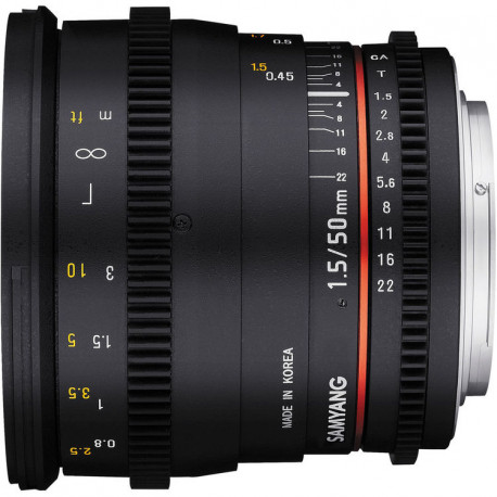 Samyang 50mm T/1.5 VDSLR - Canon EF