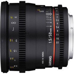Lens Samyang 50mm T / 1.5 VDSLR - Nikon F