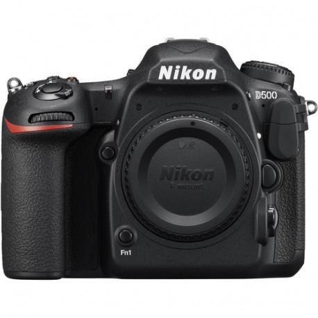 фотоапарат Nikon D500 + обектив Nikon AF-S 200-500mm f/5.6E ED VR + аксесоар Nikon 100-TH Anniversary Premium Camera Strap (черен)