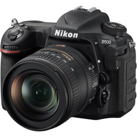 Nikon D500 + обектив Nikon AF-S 16-80mm f/2.8-4E ED DX VR + карта Lexar Professional SD 64GB XC 633X 95MB/S + раница Vanguard Sedona 45 (каки)