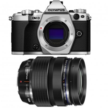 фотоапарат Olympus OM-D E-M5 MARK II (сребрист) + обектив Olympus MFT 12-40mm f/2.8 PRO