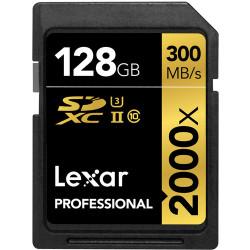 Lexar Professional SDXC 128GB 2000X 300mb/s