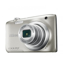 Camera Nikon CoolPix A100 (silver) + Case Logic case + 16GB card
