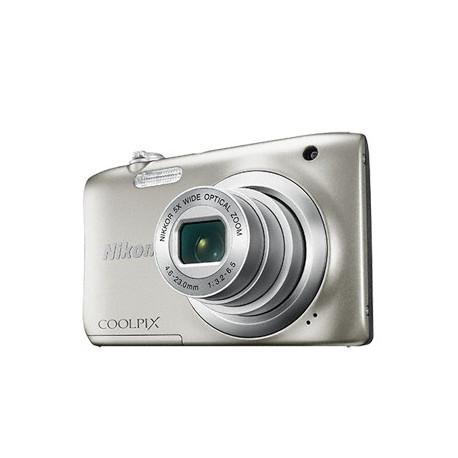 Nikon CoolPix A100 (сребрист) + калъф Case Logic + карта 8 GB