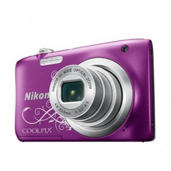 Nikon CoolPix A100 (лилав арт) + калъф Case Logic + карта 8 GB
