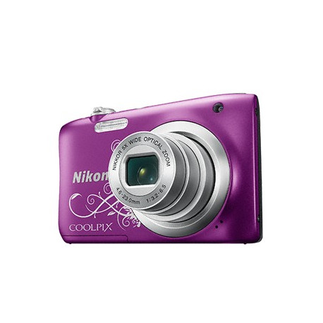 Nikon CoolPix A100 (лилав арт) + калъф Case Logic + карта 16 GB