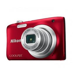 фотоапарат Nikon CoolPix A100 (червен) + калъф Case Logic + карта 16 GB