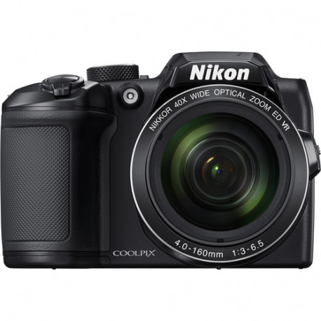 фотоапарат Nikon CoolPix B500 (черен) + зарядно у-во Panasonic Eneloop Basic + 4 бр. AA